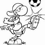 Ausmalbild Molly - der Fußballspieler