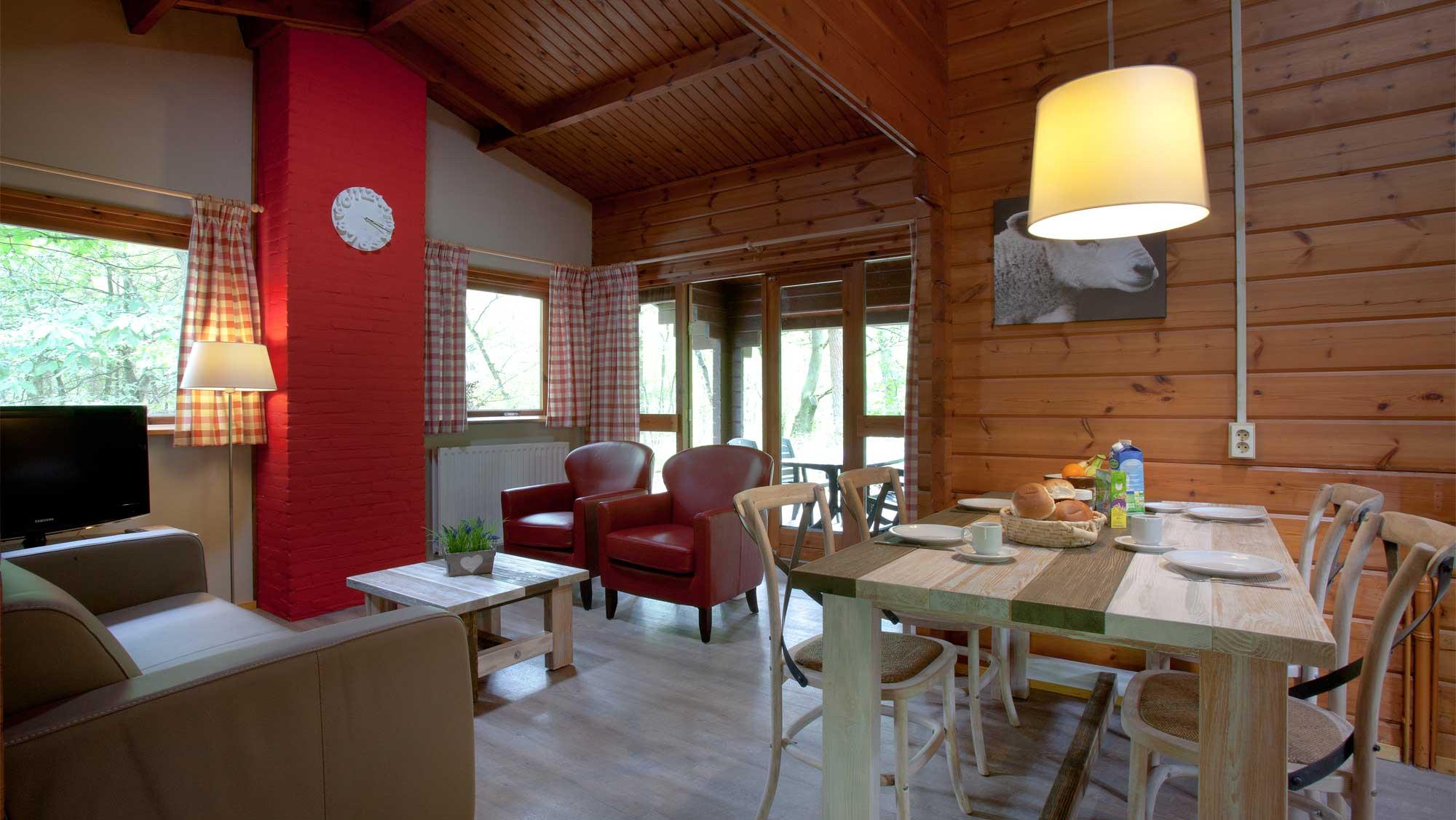 4pers bungalow Finse Molecaten Park Landgoed Ginkelduin interieur 03